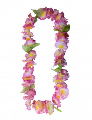 Roze hawaiaanse bloemen ketting