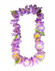 Paarse hawaiaanse bloemen slinger