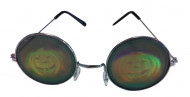 Ronde bril met pompoen hologram volwassenen