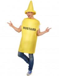 Mosterd fles kostuum voor volwassenen