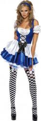 Blauw prinsessen kostuum voor vrouwen