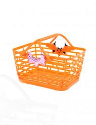 Oranje snoep mandje voor Halloween