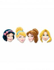 4 kartonnen Disney Princesses™ maskers