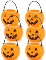 6  pompoenen emmers voor Halloween!