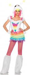 Regenboog monster kostuum voor dames