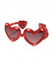 Rode hart bril met licht