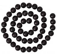 Zwarte glitter ballen slinger