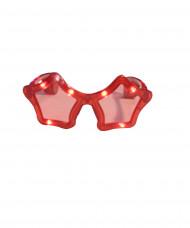 Rode sterren bril met lichtjes volwassenen