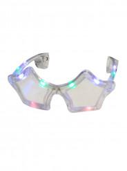 Doorschijnende LED bril in ster vorm