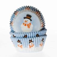 50 Cupcake Sneeuwman bakvormen
