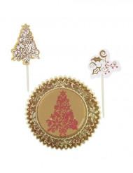 Kerst prikkers en cupcake vormen