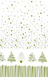 Papieren tafelkleed op rol van grafische dennenbomen