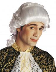 Witte Renaissance pruik voor volwassenen