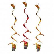 3 draken versieringen om op te hangen