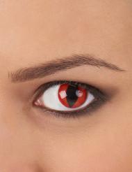 Contact lenzen rode reptiel ogen