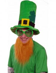 Groene Ierse hoed met baard