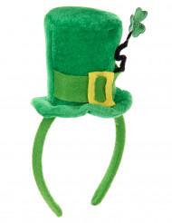 Klein groen hoedje met klavertje