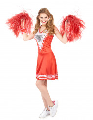 Rood Cheerleader kostuum voor dames