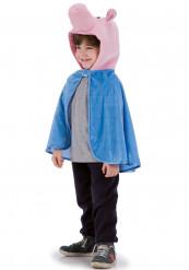 Blauwe varkens cape voor kinderen
