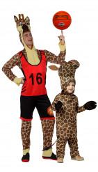Vader en zoon giraffe kostuum