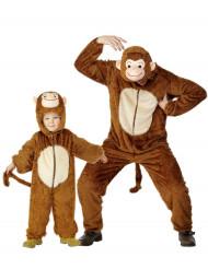 Apen kostuums vader en kind
