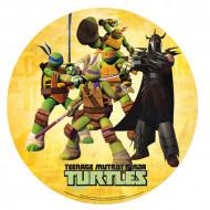 Ouwel taartversiering Ninja Turtle & Shredder™