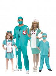 Chirurgen en verpleegster familie kostuums