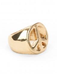 Goudkleurige hippie ring voor volwassenen