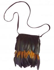 Indiaanse tas met veren