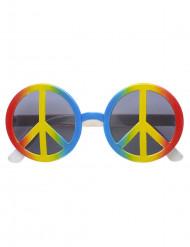 Meerkleurige hippiebril voor volwassenen