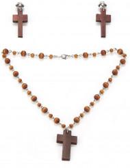 Religieuze ketting en oorbellen set voor vrouwen