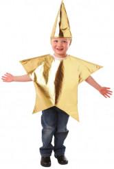 Verkleedkostuum ster voor kinderen Kerst