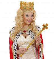Goudkleurige kroon van schuim voor volwassenen