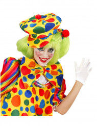 Clown beret met stipjes