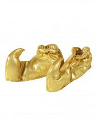 Goudkleurige Oosterse prins overschoenen voor volwassenen