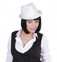 Gangster hoed voor volwassenen in het wit