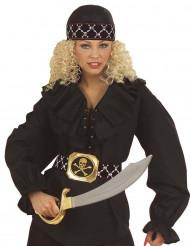 Piraten hoofddoek met doodskoppen voor volwassenen