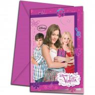 6 uitnodigingen en enveloppen Violetta™