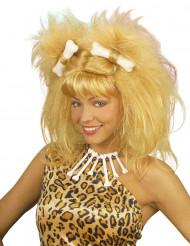 Blonde holbewoner pruik voor vrouwen