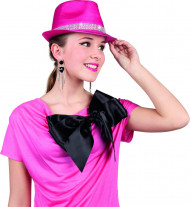 Roze glimmende hoed