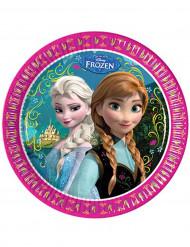 Set van 8 wegwerp borden Frozen™ 23 cm