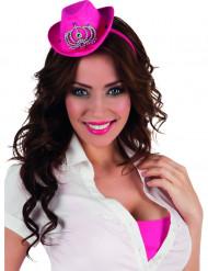 Mini roze cowgirl hoedje