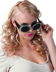 Disco bril voor volwassenen in het zwart en zilver