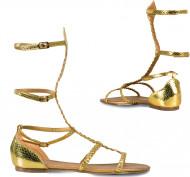 Goudkleurige sandalen voor vrouwen