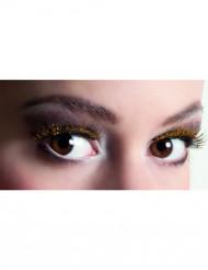 Nep wimpers met goudkleurige glitters