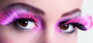 Valse wimpers XL roze en zwart voor volwassenen