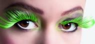 Valse wimpers XL groen en zwart voor volwassenen