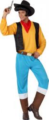 Gele cowboy kostuum voor mannen