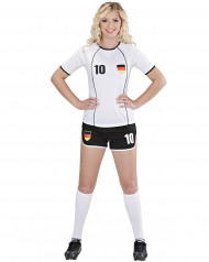 Duitse voetbal supporter outfit voor vrouwen