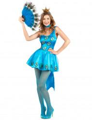 Pauw carnavalskostuum voor dames